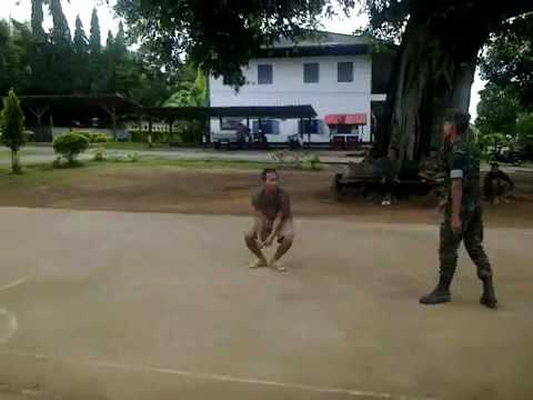 Jumping jack from Royal Thai Marines Corps