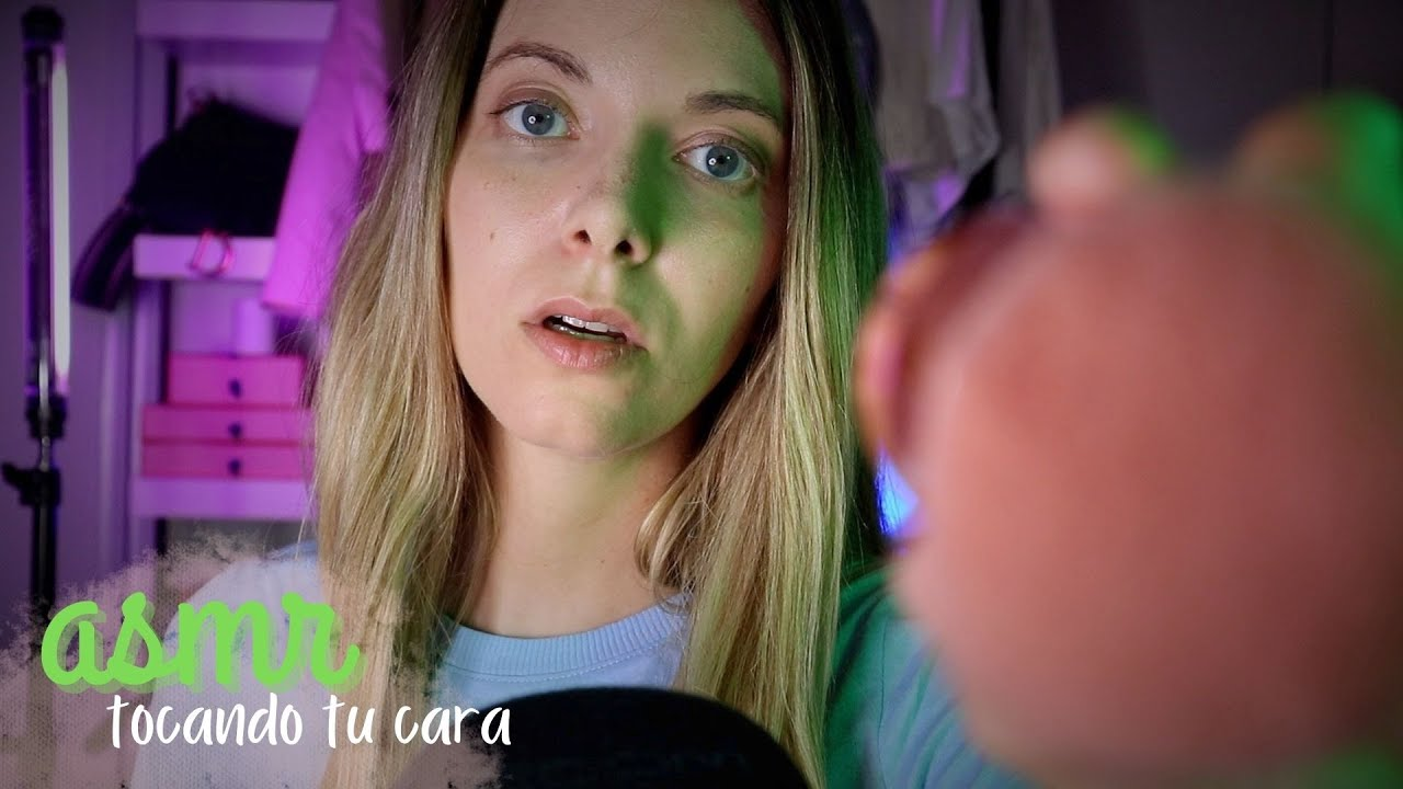 👈🏼 ASMR Tocando tu CARA hasta que te duermas   Love ASMR español *