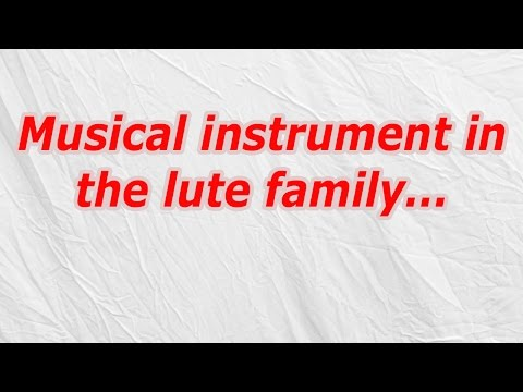 Musical instrument in the lute family (CodyCross Crossword Answer)