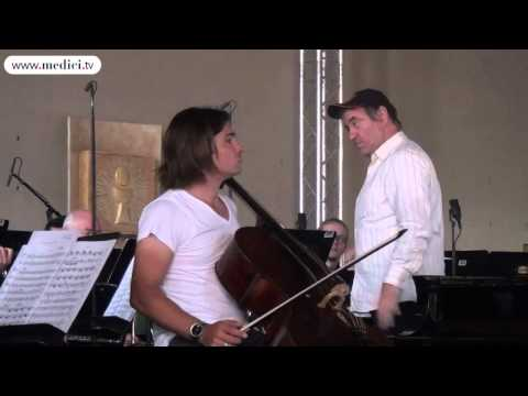 VALERY GERGIEV AND GAUTIER CAPUCON REHEARSE IN EGLISE SAINTE BERNADETTE