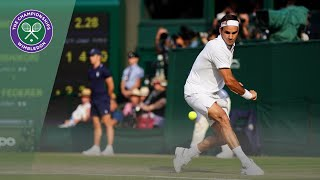 Roger Federer vs Kei Nishikori Wimbledon 2019 quarter-final highlights