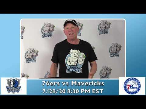 Philadelphia 76ers vs Dallas Mavericks 7/28/20 Free NBA Pick and Prediction NBA Betting Tips