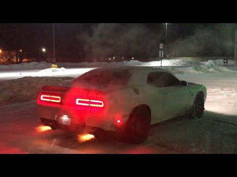 Daily Driven 1000HP+ Hellcat Shoots FLAMES in the SNOW!!