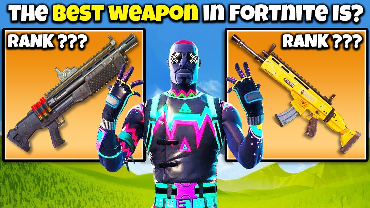 Fortnite Battle Royale All Weapons Tier List With Stats Metabomb