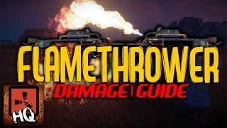 FLAMETHROWER DAMAGE GUIDE - [ Rust ]