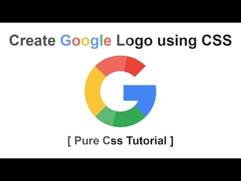 Create Google Logo Using CSS - Pure CSS Logo Tutorial
