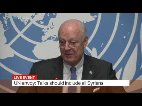 UN Special Envoy for Syria Staffan de Mistura launches peace talks in Geneva