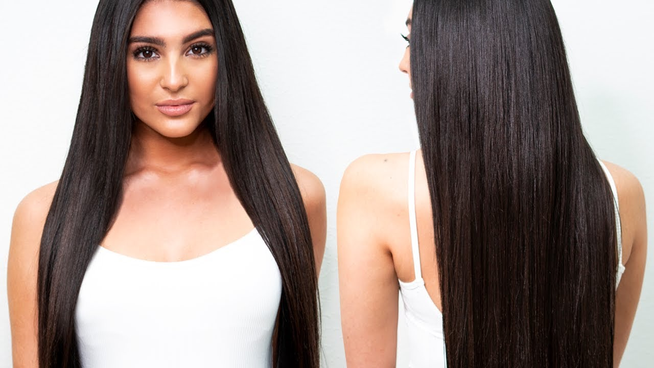 Kim Kardashian Long And Sleek Hairstyle