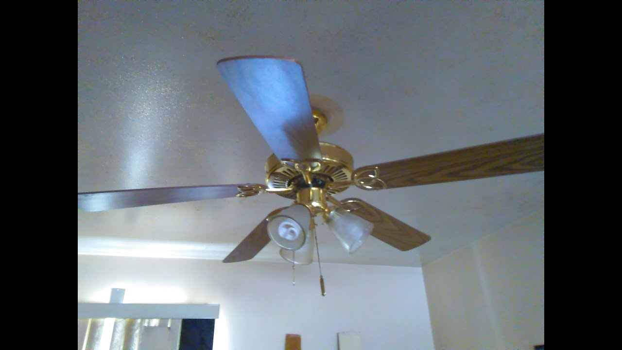 52 Quot Polished Brass Encon Vintage Ceiling Fan 1 Of 2