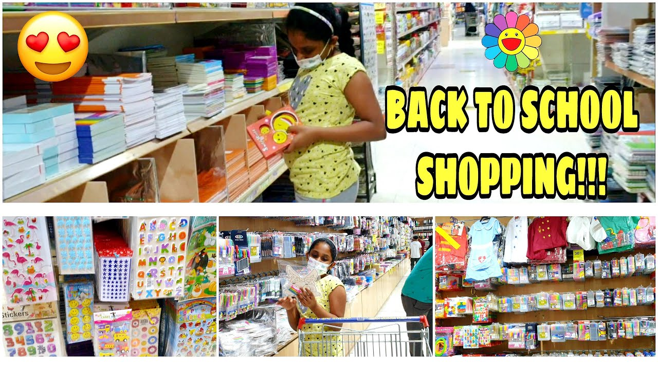 Download Back To School Supply Shopping 2021 ✏️ | Kids School Shopping In BAHRAIN | Outing /Food/Fun