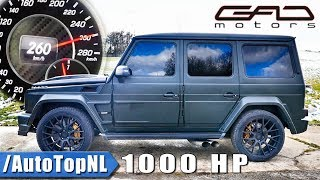 1000HP Mercedes G63 AMG by GAD | 260km/h on AUTOBAHN ACCELERATION & SOUND by AutoTopNL