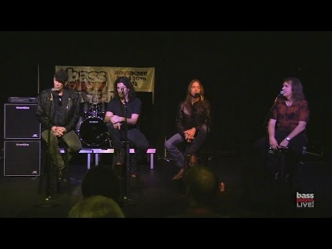 Billy Sheehan, Rex Brown, Frank Bello, and David Ellefson at Bass Player LIVE! 2013