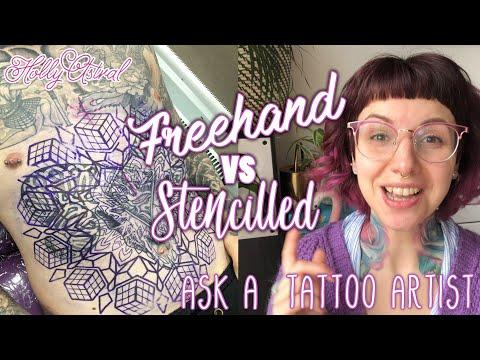 Freehand VS stencil. Ask a Tattoo Artist