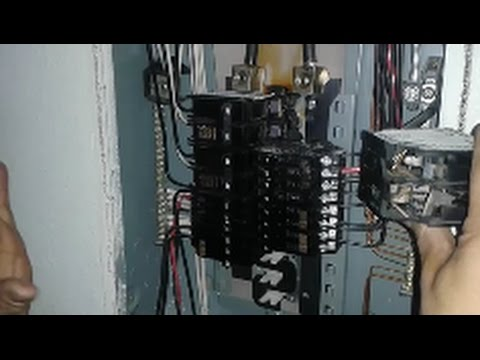 electrical sub panel wiring diagram 10 hp briggs and stratton carburetor replace a 60 amp 240 volt overlodaded circuit breaker step by youtube