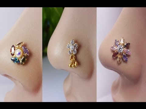 Latest Diamond Nose Stud Collection Diamond Jewellery Youtube