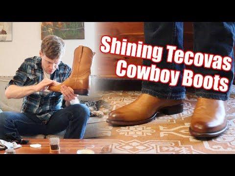 How Shiny Can I Make Tecovas Cowboy Boots?!