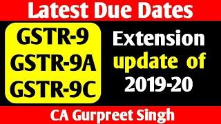 GSTR9, GSTR9A & GSTR9C of FY 2019-20 Due Date Extension update   GST Annual Return& GST Audit Filing