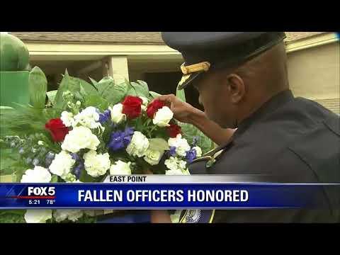 Police memorial services held in East Point, Atlanta