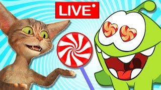 Om Nom Stories : The Journey Begins ! Funny Hindi Cartoon For Kids  | Cut The Rope Live🔴