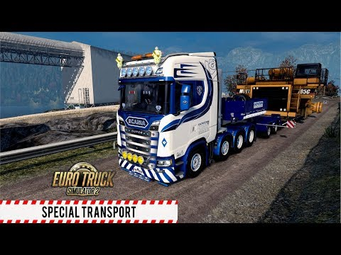 ETS2 1.30 - Special Transport DLC - Scania S730 - Stavanger to Oslo