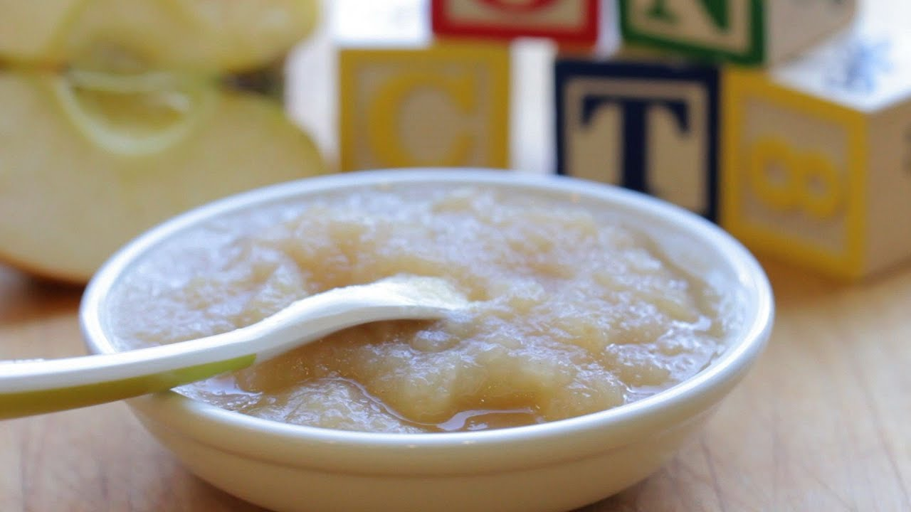 Baby applesauce baby food recipe 4m youtube forumfinder Gallery