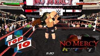 No Mercy Top 10 Best Moments - WRESTLING REVOLUTION 3D