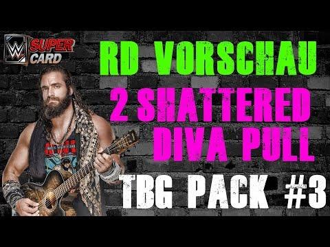 2x SHATTERED DIVA PULL 🔥 | Elias RD Vorschau | TBG Pack #3 | 2x Winterfusion | WWE SuperCard Deutsch