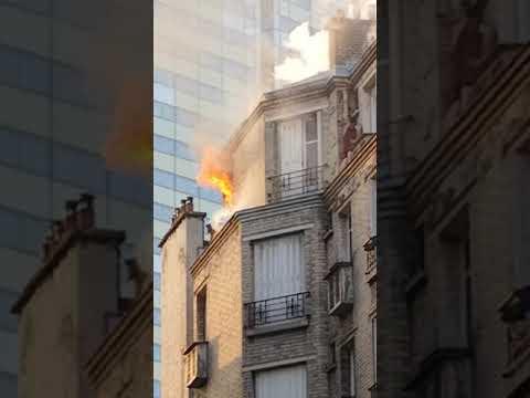 Incendie Courbevoie la Défense 17 /11 /18