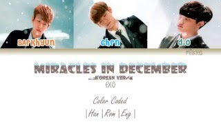 EXO - Miracles in December (12월의 기적) Korean Version Color Coded  Han Rom Eng 
