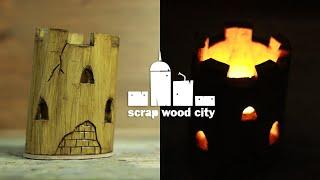 Diy Wood Castle Tea Light Holder