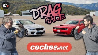 DRAG RACE BMW M5 Competition vs Dodge Challenger SRT Hellcat | coches.net