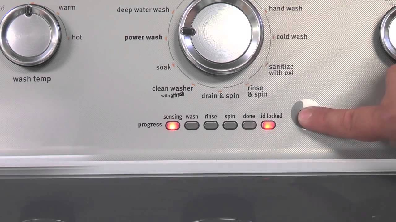 Lid Lock Light Flashing Blinking On Top Load Washing Machine