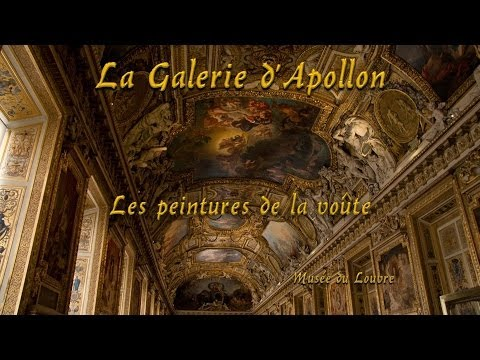 Les peintures de la voûte de la Galerie Apollon au Louvre.