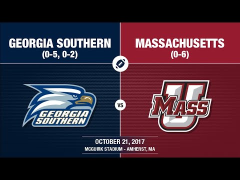 2017 Week 8 - Georgia Southern at UMass