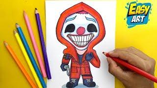 🔴 Como Dibujar Free Fire - Payaso Rojo Criminal KAWAII -  How to Draw Free Fire Skin