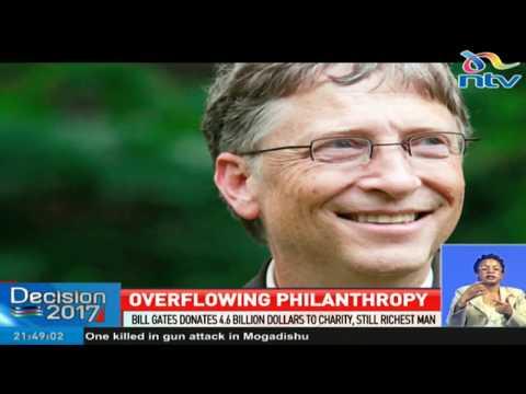 Bill Gates donates $4.6 billion to charity, still richest man on earth