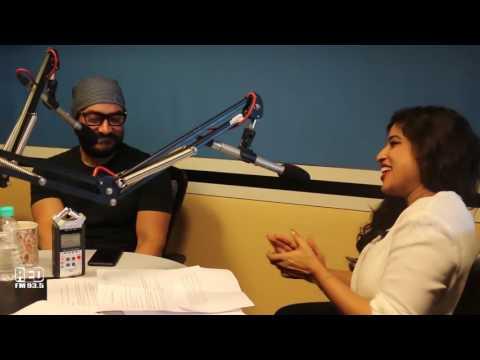 Aamir Khan with Malishka at Red FM Studio