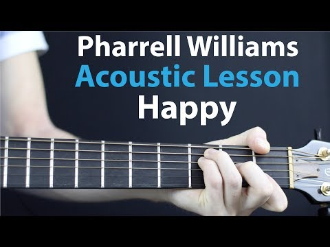 Happy - Pharrell Williams: Acoustic Guitar Lesson/Tutorial 🎸How To Play Chords/Rhythms