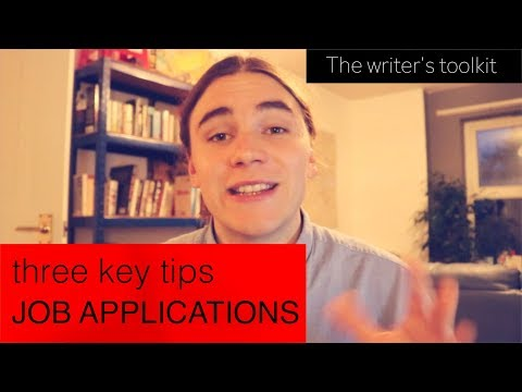 JOB APPLICATIONS write the perfect cover letter