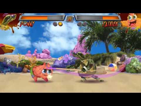 Nickeloden Game: Super Brawl 3 Just Got Real - Donatello vs Evil / HD