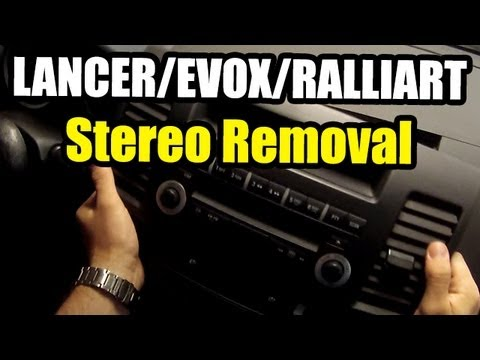 Lancer stereo removal and aftermarket install Part 1 of 2 - YouTube