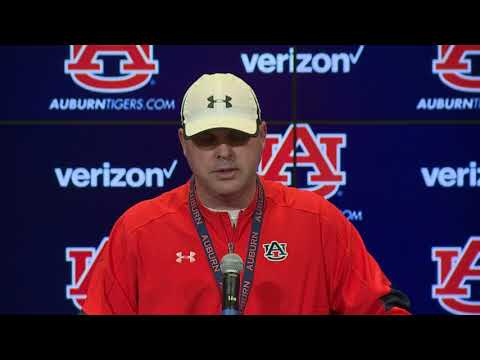 Auburn Offensive Coordinator Chip Lindsey Reviews Georgia Win, Looks Ahead To ULM