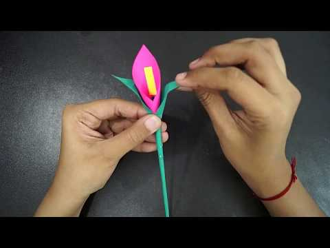 Paper Craft Flowers || How To Make A Paper Flower || Flower Making || Origami Flower || Paper Craft