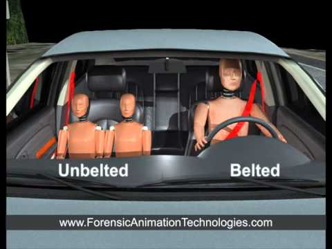 Orlando Car Accident - Occupant Without Seat-belt Ejection Animation