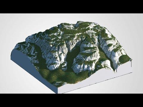 [512x512] Minecraft - zBrush/WorldMachine Timelapse