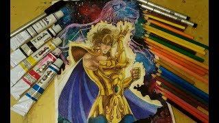Drawing Aiolia of lion - Saint Seiya