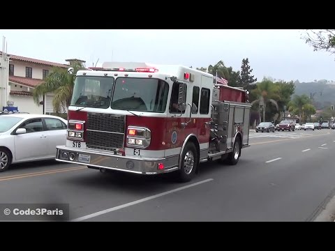 Santa Barbara Engine 1 Responding