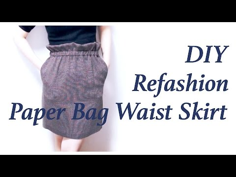 Refashion DIY Ruffle waist(top) / paper bag waist Skirtㅣmadebyaya
