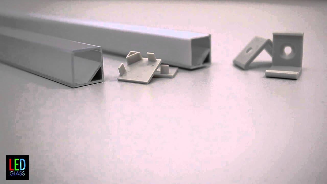 corner aluminium profile for led strips p8 youtube. Black Bedroom Furniture Sets. Home Design Ideas