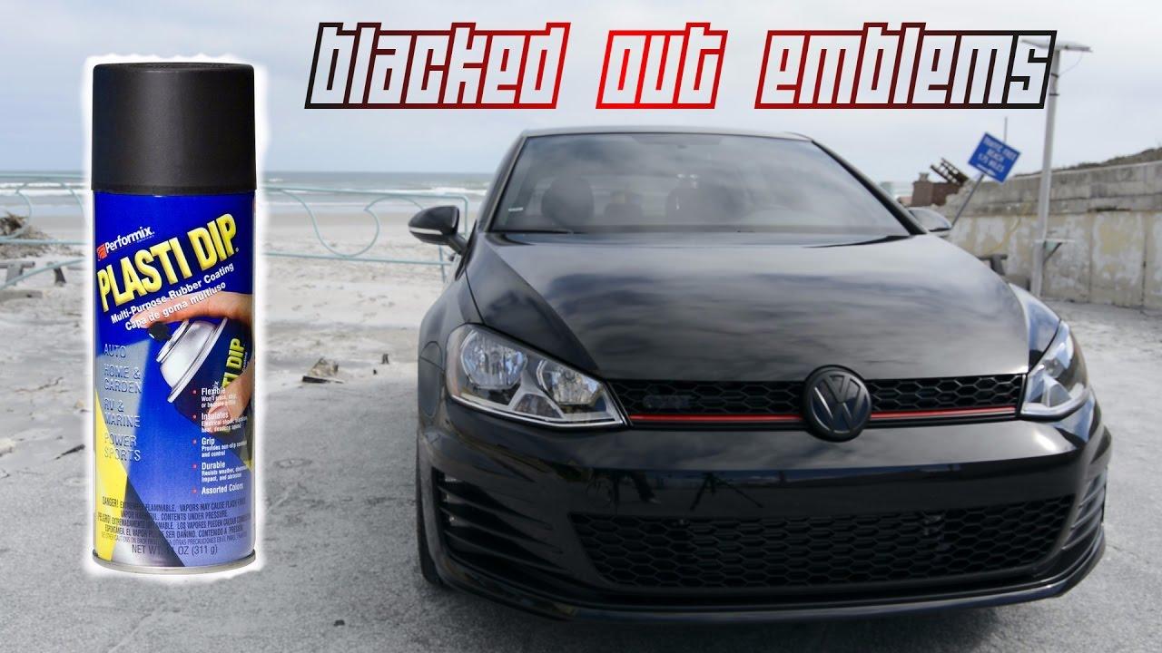 Plasti Dip Emblems >> MK7 Build: Blacked Out Emblems Using Plasti Dip & Tint ...